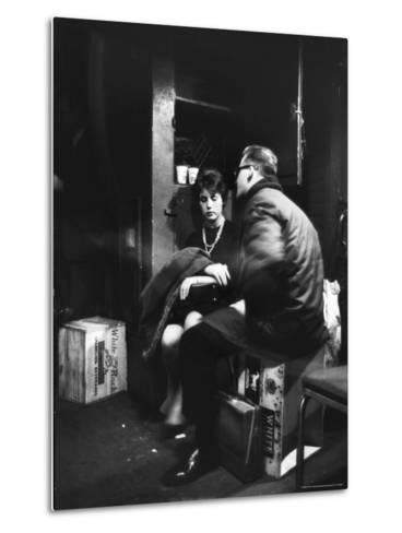 Commuters on the New York New Haven Line Riding in Baggage Car During Evening Rush Hour-Alfred Eisenstaedt-Metal Print