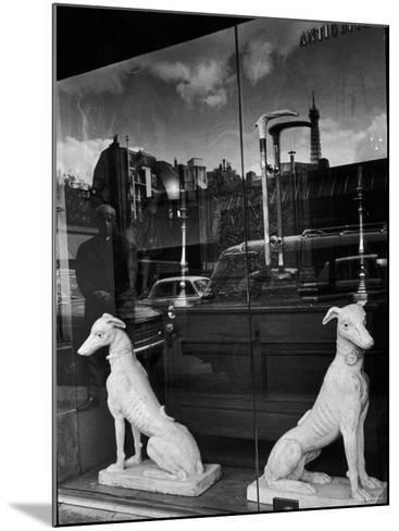 Ceramic Hounds in Window of Antique Shop-Alfred Eisenstaedt-Mounted Photographic Print
