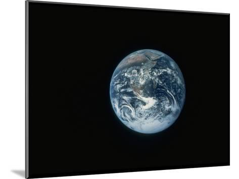 Full Earth as Seen from Space Aboard the Apollo 17--Mounted Photographic Print