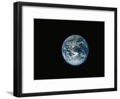 Full Earth as Seen from Space Aboard the Apollo 17--Framed Art Print