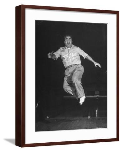 Bowler Andy Varipapa, Celebrating Because of His Score-George Skadding-Framed Art Print