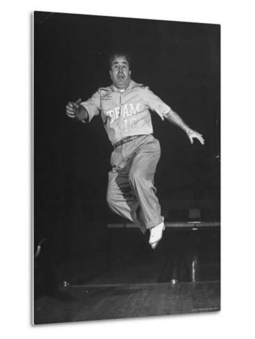 Bowler Andy Varipapa, Celebrating Because of His Score-George Skadding-Metal Print