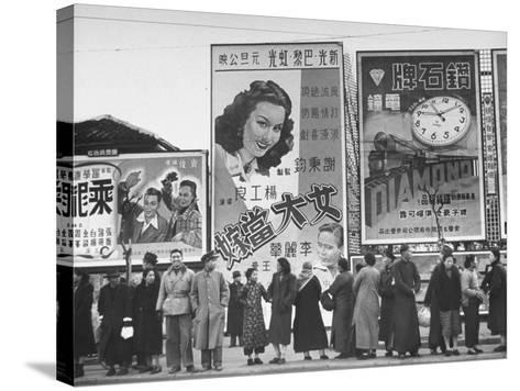Billboards Advertising Excursions-Jack Birns-Stretched Canvas Print