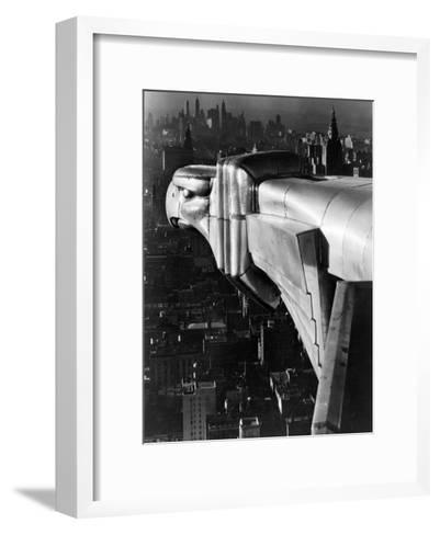 Chrysler Building Gargoyle-Margaret Bourke-White-Framed Art Print