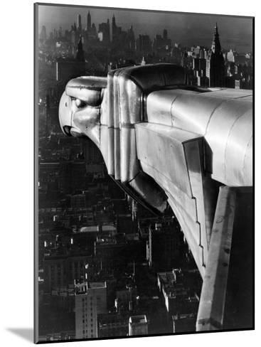 Chrysler Building Gargoyle-Margaret Bourke-White-Mounted Photographic Print