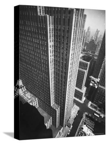Panorama of RCA Building at Rockefeller Center Between 49th and 50Th, on the Avenue of the Americas-Andreas Feininger-Stretched Canvas Print