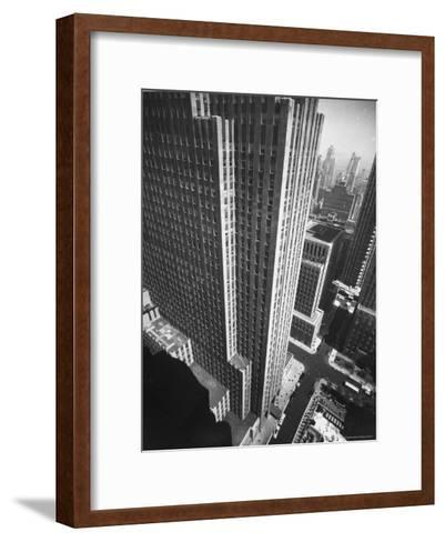 Panorama of RCA Building at Rockefeller Center Between 49th and 50Th, on the Avenue of the Americas-Andreas Feininger-Framed Art Print