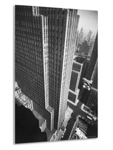 Panorama of RCA Building at Rockefeller Center Between 49th and 50Th, on the Avenue of the Americas-Andreas Feininger-Metal Print