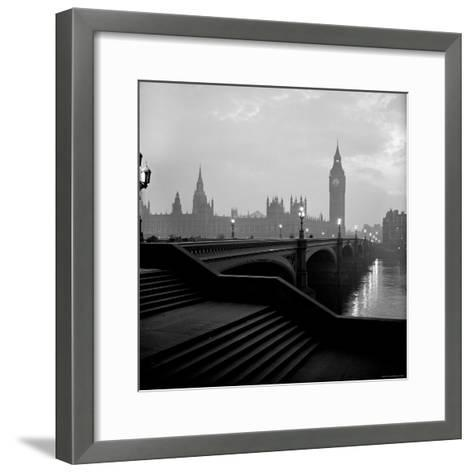 View of the Houses of Parliament as Seen Across Westminster Bridge at Dawn-Nat Farbman-Framed Art Print