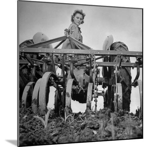 Patricia Colleen Altree Harrowing a Corn Field-J^ R^ Eyerman-Mounted Photographic Print
