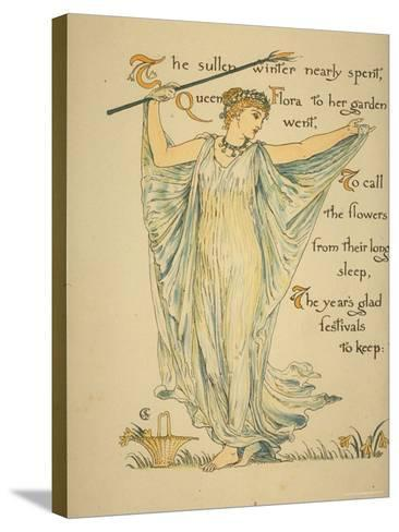 Masque of Flowers-Walter Crane-Stretched Canvas Print