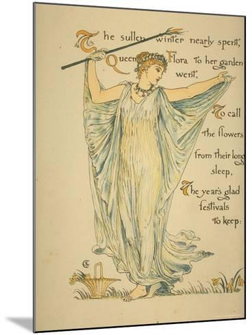 Masque of Flowers-Walter Crane-Mounted Photographic Print