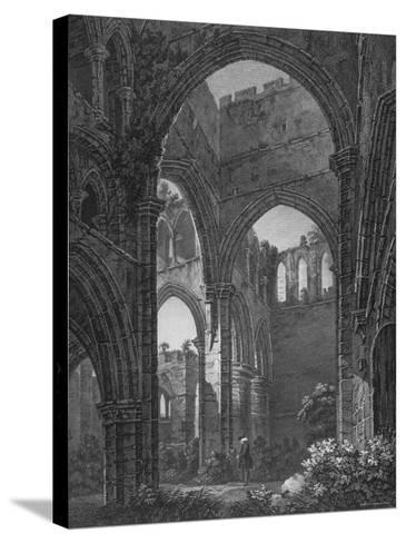 Engraving of Lanercost Priory Founded by Robert de Vallibus in 1116--Stretched Canvas Print