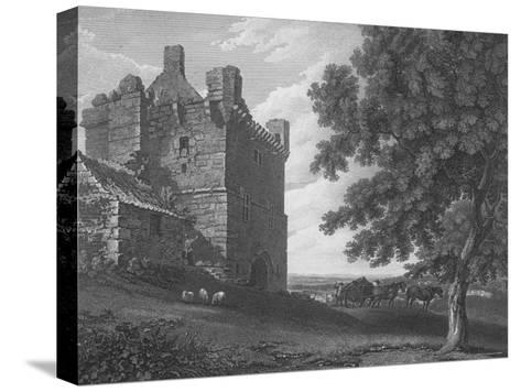 Engraving of the Gateway Tower of Morpeth Castle--Stretched Canvas Print