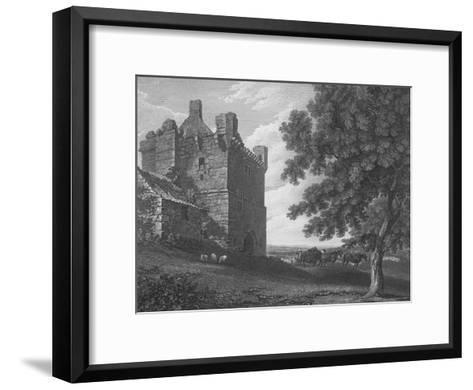 Engraving of the Gateway Tower of Morpeth Castle--Framed Art Print