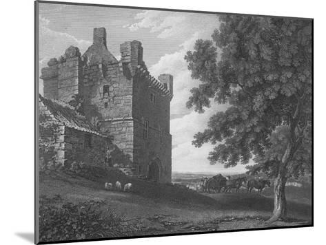 Engraving of the Gateway Tower of Morpeth Castle--Mounted Photographic Print