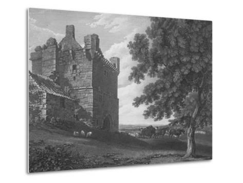 Engraving of the Gateway Tower of Morpeth Castle--Metal Print