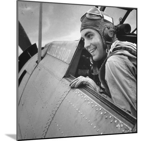 US Pilot at Midway Naval Base-Frank Scherschel-Mounted Photographic Print