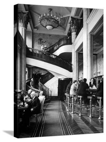 New Cocktail Hall on Gorky Street Where the Rich and Elite Can Experience a Pricey Cowboy Cocktail-Margaret Bourke-White-Stretched Canvas Print