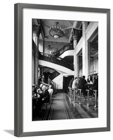 New Cocktail Hall on Gorky Street Where the Rich and Elite Can Experience a Pricey Cowboy Cocktail-Margaret Bourke-White-Framed Art Print