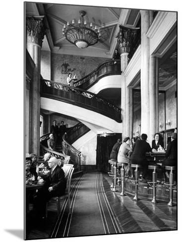 New Cocktail Hall on Gorky Street Where the Rich and Elite Can Experience a Pricey Cowboy Cocktail-Margaret Bourke-White-Mounted Photographic Print