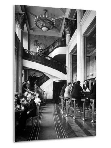 New Cocktail Hall on Gorky Street Where the Rich and Elite Can Experience a Pricey Cowboy Cocktail-Margaret Bourke-White-Metal Print