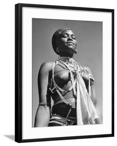 Honiadiri Londi, the Zulu Chief's Sister-Hart Preston-Framed Art Print