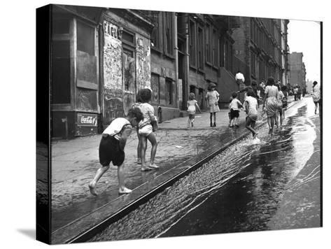Children Playing on 103rd Street in Puerto Rican Community in Harlem-Ralph Morse-Stretched Canvas Print