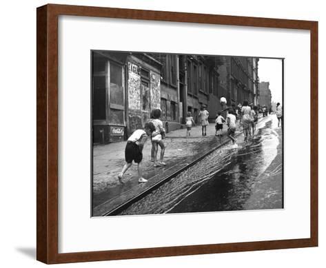 Children Playing on 103rd Street in Puerto Rican Community in Harlem-Ralph Morse-Framed Art Print