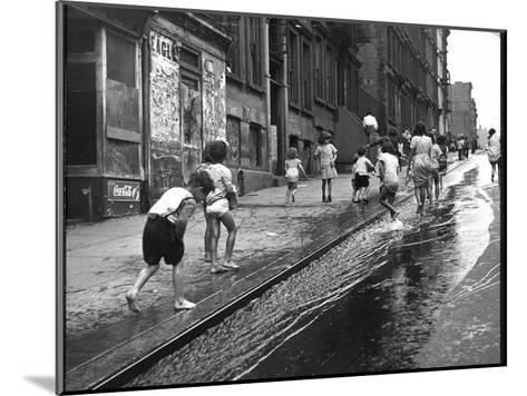 Children Playing on 103rd Street in Puerto Rican Community in Harlem-Ralph Morse-Mounted Photographic Print
