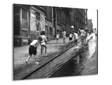 Children Playing on 103rd Street in Puerto Rican Community in Harlem-Ralph Morse-Metal Print