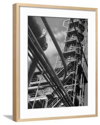 Exterior View of a Refinery and Factory-Andreas Feininger-Framed Art Print