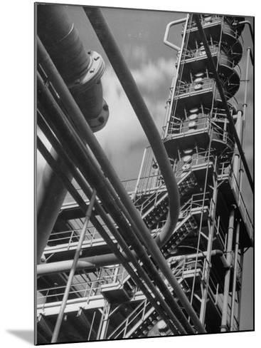 Exterior View of a Refinery and Factory-Andreas Feininger-Mounted Photographic Print