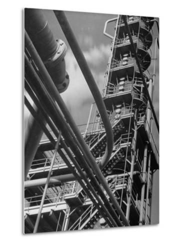 Exterior View of a Refinery and Factory-Andreas Feininger-Metal Print