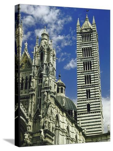 Facade, Dome and Bell Tower of Duomo Santa Maria Del Fiore, Florence-Gjon Mili-Stretched Canvas Print