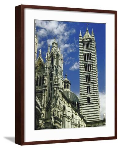 Facade, Dome and Bell Tower of Duomo Santa Maria Del Fiore, Florence-Gjon Mili-Framed Art Print