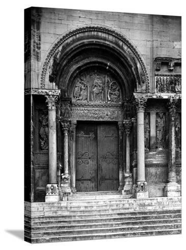 Close Up of Left Portal of Romanesque Church of St. Gilles du Gard, Provence-Gjon Mili-Stretched Canvas Print