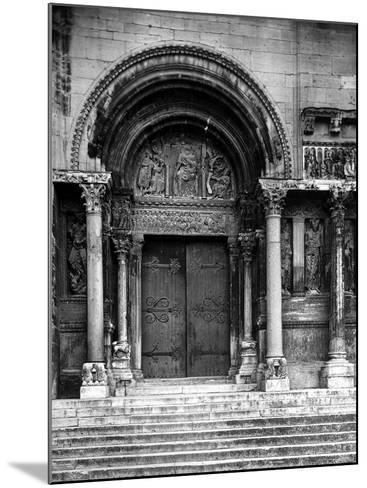 Close Up of Left Portal of Romanesque Church of St. Gilles du Gard, Provence-Gjon Mili-Mounted Photographic Print