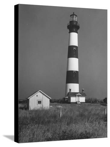 Bodie Island Light House, 6 Miles South of Nag's Head-Eliot Elisofon-Stretched Canvas Print