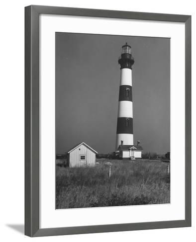 Bodie Island Light House, 6 Miles South of Nag's Head-Eliot Elisofon-Framed Art Print