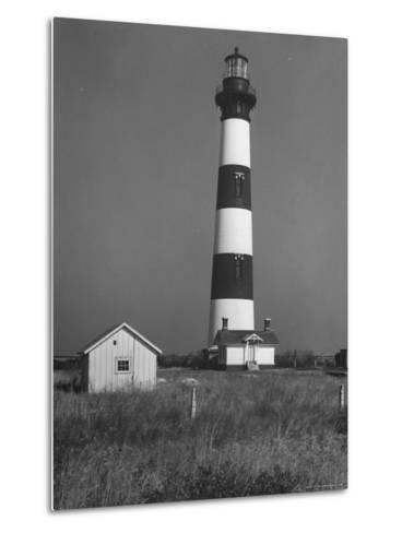 Bodie Island Light House, 6 Miles South of Nag's Head-Eliot Elisofon-Metal Print