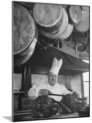 Chief Serving Food-Marie Hansen-Mounted Photographic Print