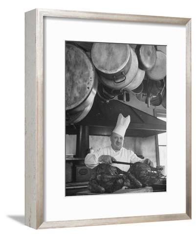Chief Serving Food-Marie Hansen-Framed Art Print