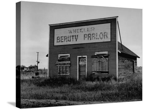 Boarded Up Beauty Salon-Charles E^ Steinheimer-Stretched Canvas Print