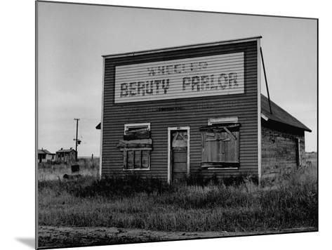 Boarded Up Beauty Salon-Charles E^ Steinheimer-Mounted Photographic Print