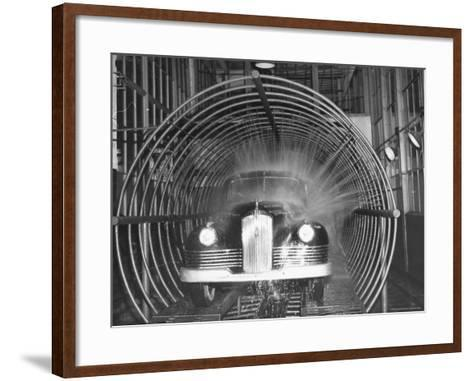 Car Going Through the Final Washing Stage-Thomas D^ Mcavoy-Framed Art Print