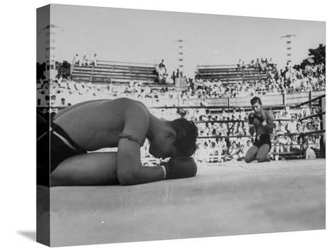 Buddhist Prayers at Beginning of the Prefight Ceremony of Muay Thai Boxing-Jack Birns-Stretched Canvas Print