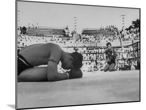 Buddhist Prayers at Beginning of the Prefight Ceremony of Muay Thai Boxing-Jack Birns-Mounted Photographic Print