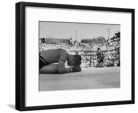 Buddhist Prayers at Beginning of the Prefight Ceremony of Muay Thai Boxing-Jack Birns-Framed Art Print