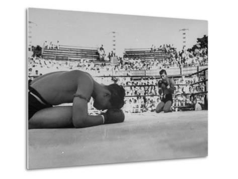 Buddhist Prayers at Beginning of the Prefight Ceremony of Muay Thai Boxing-Jack Birns-Metal Print
